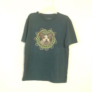 Hybrid Cat Women's T - Shirt Size M Aqua